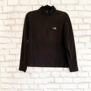 The North Face Black 1/4 Zip Fleece Pullover Large
